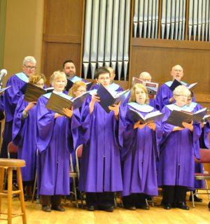 Choir at Dedication